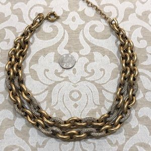 JCrew double chain pace link necklace